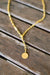 Cinco - Benedicte Necklace 925 Sterling Silver / 24k Yellow Gold Plated