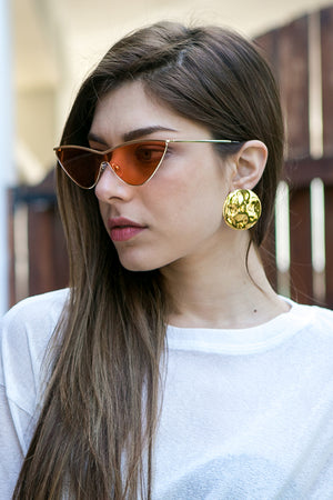 Cinco- Jeanne Earrings 925 Sterling Silver / 24k Yellow Gold Plated