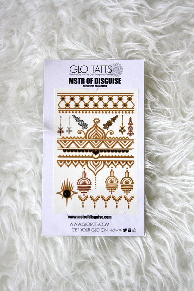 Glo Tatts - MSTR OF DISGUISE Metallic Tattoo Pack
