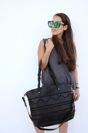 Gracie Roberts Bag - Ra Ra Tote Black