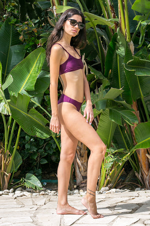 NA-KD - Sporty Bikini Panty Dark Purple