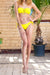 Phax Swimwear - Tropicana Sunset Bikini Bottom Yellow