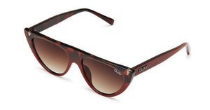 Quay Australia Sunglasses - Run Away Tort to Red Fade/Brown