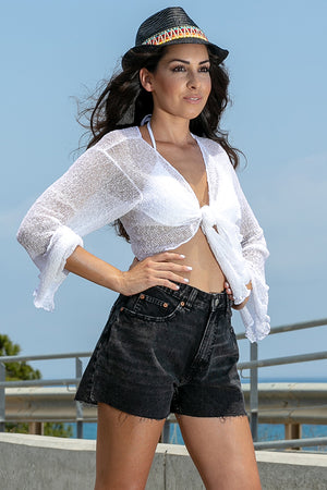 Queencii - See Through Top White