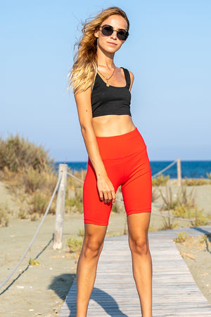 Queencii – Carli Cycling Shorts Red