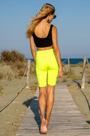 Queencii – Carli Cycling Shorts Yellow
