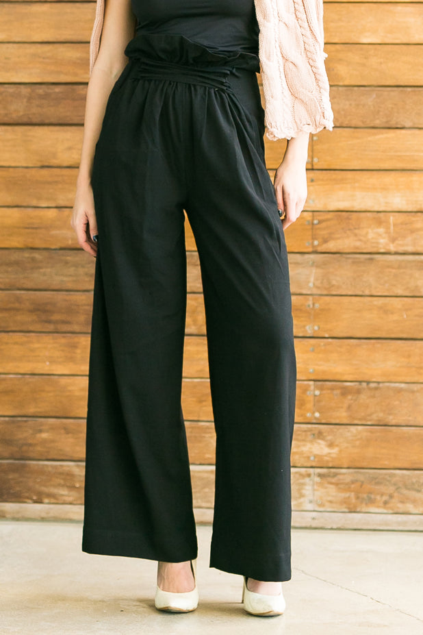 Wide leg pants high waist