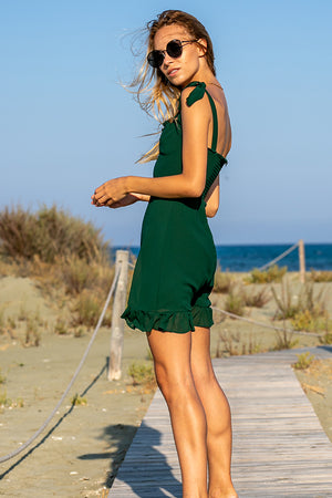 Queencii – Olivia Dress Green