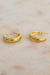 Queencii – Cali Earrings 925 Sterling Silver / 18k Yellow Gold Plated