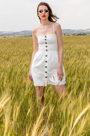 Queencii – Atrani Dress White