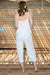 Queencii – Sorrento Jumpsuit White