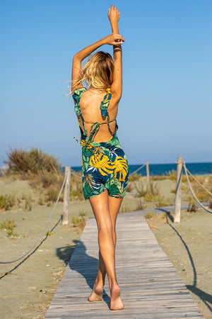 Queencii – Amazonia Dress Green