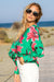 Queencii – Shannon Floral Shirt Green