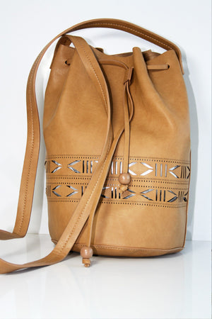 Gracie Roberts Bag - Cut It Out Bucket Camel