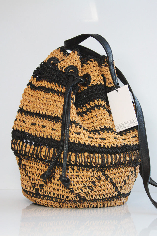 Gracie Roberts Bag - Straw For All Drawstring