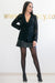 Queencii – Giuliana Lace Blazer Black