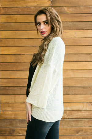 Okra, soft and thin beige cardigan