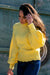NA-KD - Dropped Sleeve Knitted Sweater Yellow
