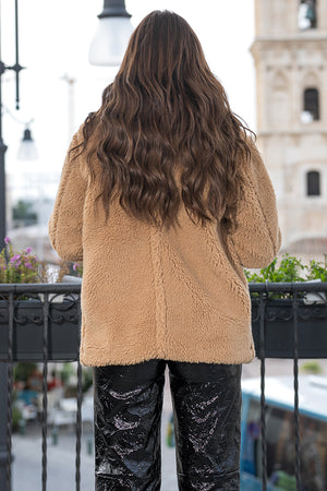 NA-KD - Soft Teddy Jacket Brown