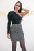 Queencii – Paola Sequin Skirt Silver
