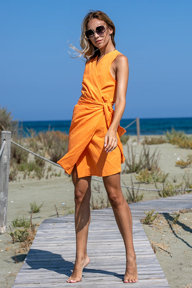 Sun Sea & Roses – Athena Dress Orange