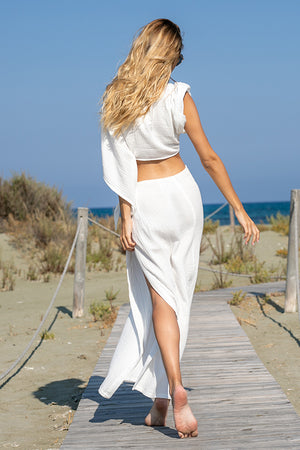 Sun Sea & Roses – Chios Skirt White