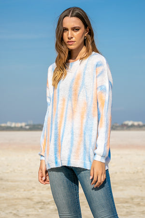 Queencii – Nicole Knitted Sweater Multicolor