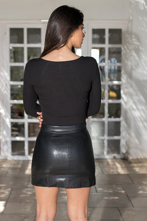 Queencii – Ally Skirt Black