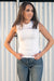 Queencii – Iris Tank Top White