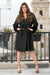 NA-KD - Oversized Faux Fur Cuff Coat Black