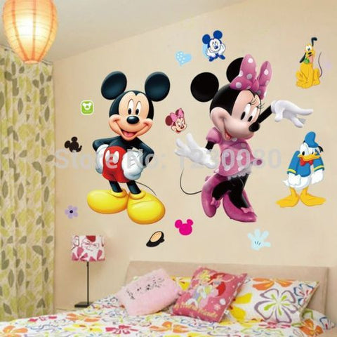 Mickey Mouse Minnie Vinyl Mural Wall Sticker