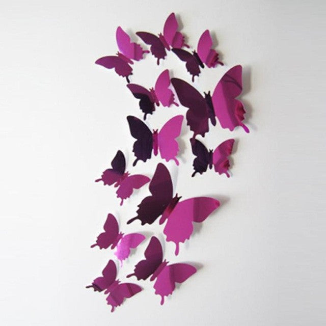 Single Color Butterfly European Style 4 Color Variants