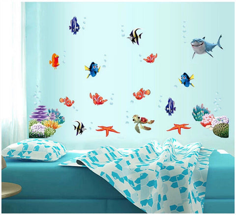 Wonderful Sea World Nursery Kids Room Art Stickers