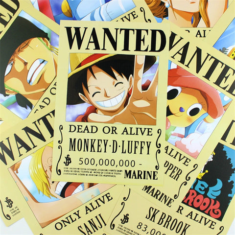 [One Piece] Wanted Poster - Set of 9 - Anime Action Bay