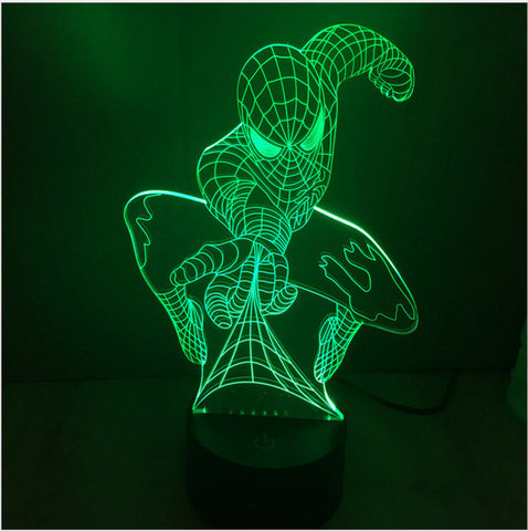 The Avengers Iron Man Deadpool 3D Led tabel lamp flash toy 2016 New SuperHero Batman 7 color visual illusion LED  lights - Anime Action Bay