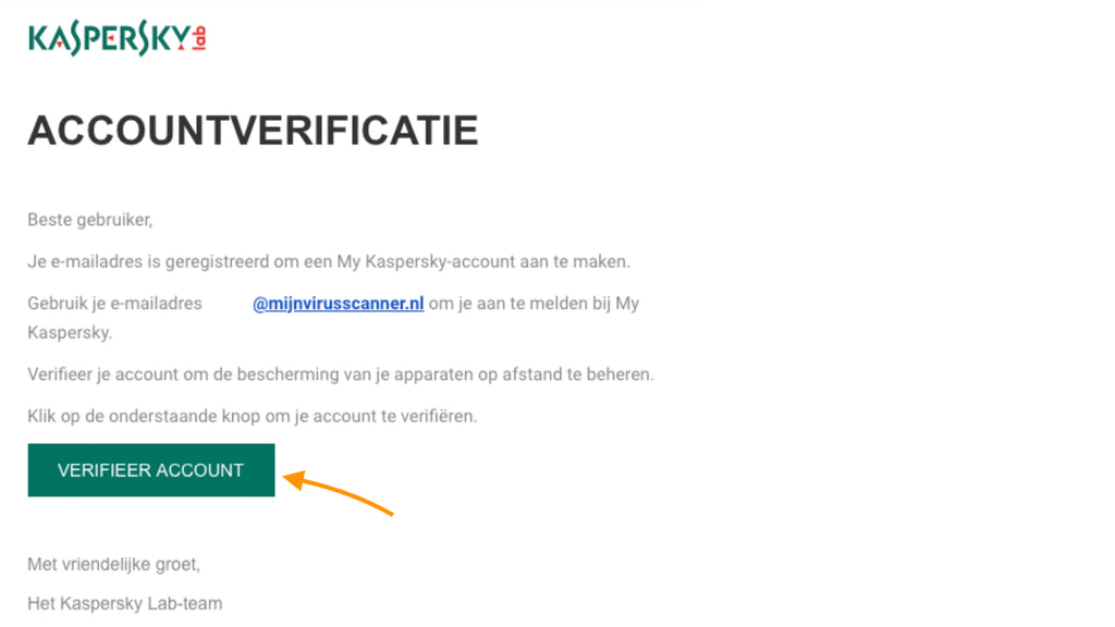 account verificatie kaspersky