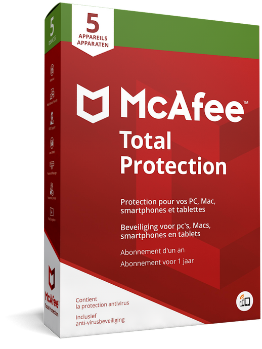 McAfee Total Protection - voor 5 apparaten
