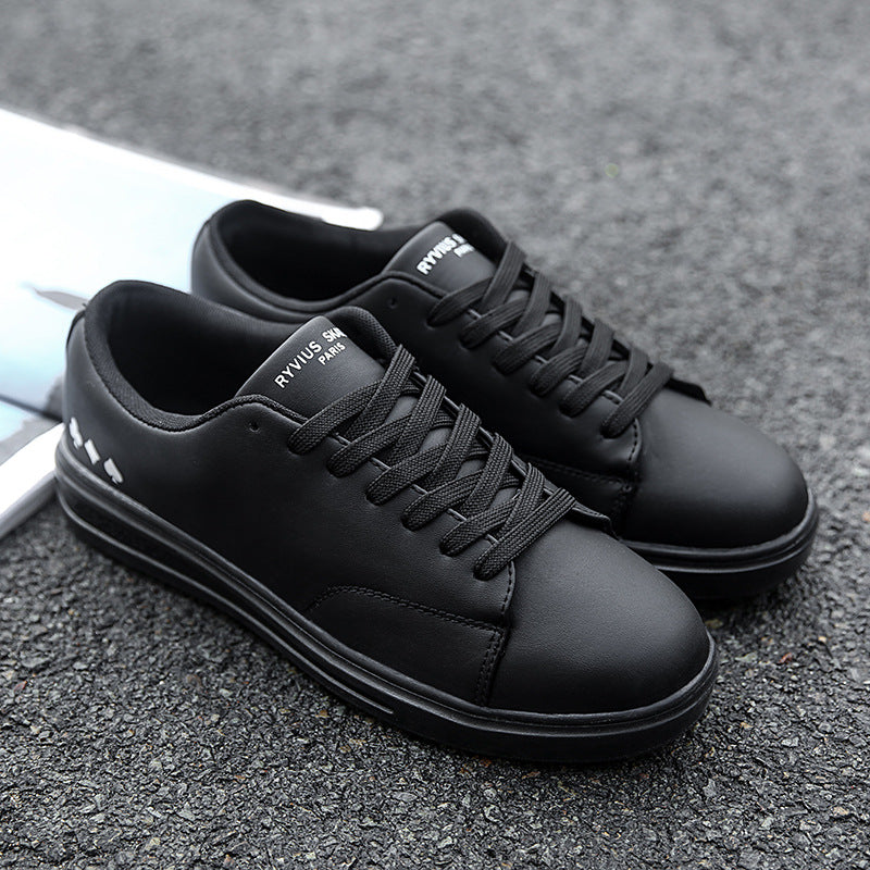 Breathable Solid Color Rubber Men's Flat Shoes