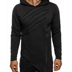 Cotton Pullover Hole Hooded Men's Hoodies