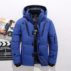 Cropped Slim Outdoor Sports Men's Down Coat