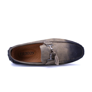 Pigskin Leather Frosted Casual Shoes