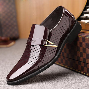 Men's Business Shoe With Breathable Hole