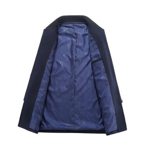 Bamboo Fiber Stand Collar Plain Men's Jackets Coat