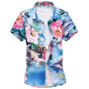 Men's Printed Short Sleeves Shirt