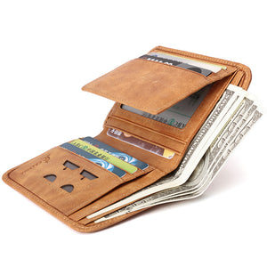 High Capacity Plain Men's Wallets