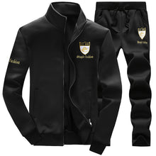 Embroidery Collar Zipper Cardigan Men's Sports Suits