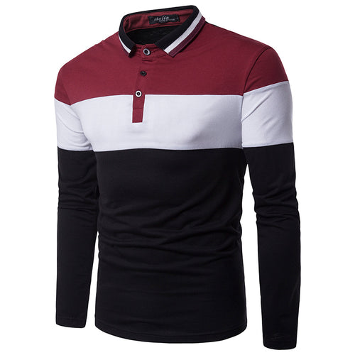 Colour Collision Collar Collar Men's Shirt