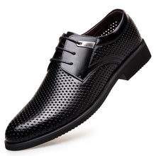 Men's Breathable Leather Business Shoes