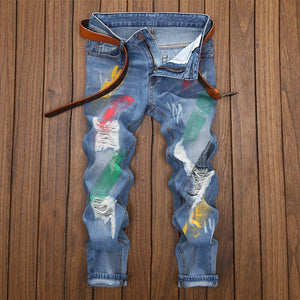 Paint Broken Hole Jeans