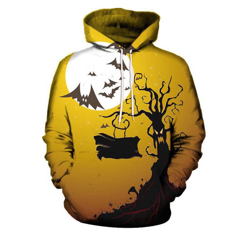 Animal Print Cotton Blends Hooded Men's Hoodies